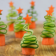 Carrot and Cucumber Christmas Trees to help children eat their veggies