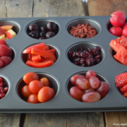red fruit and veggies in muffin tray